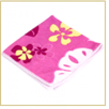 Салфетка из микрофибры M-04P с рисунком (розовая), размер: 30*30 см