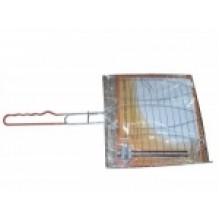 Решетка-гриль для рыбы тройная Метиз YN-GB2012/BQ333-1, хром. сталь, лат. руч.
