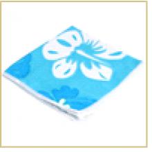 Салфетка из микрофибры M-04P с рисунком (голубая) , размер: 30*30 см