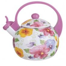 Чайник эмалированный Элис -251 2,5л со свистком
