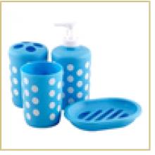 """Набор для ванной """"Эконом"""" 4 предмета BS1: диспенсер: 16*5см, держатель зуб. щеток: 10,5*5,5см, мыльн"""