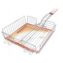Решетка-гриль для курицы малая Метиз  YN-B1002D хром.сталь, дер.ручка