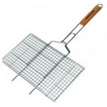Решетка-гриль для мяса малая Метиз YN-A1006C 280*220 хром. сталь, дер.ручка