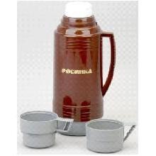 Термос РОСИНКА РОС-201 кофе, со стеклянной колбой 1,9 л, 2 чашки, материал – пластик, стекло