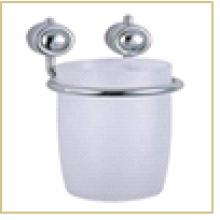 Стакан подвесной B0921, размер:11,5*7,8*10см  (хром.металл, пластик, крепление: шуруп)