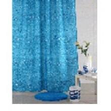 """Штора текстильная/ванны и душа """"Глубина"""" DSCN3761, 180х200см, цв. синий"""