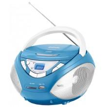 Магнитола BBK BX-108U голубой/металлик