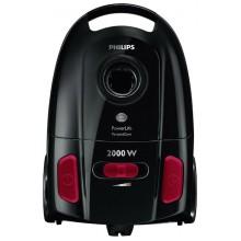 Пылесос Philips FC-8454/01, PowerLife с мешком для сбора пыли, потребляемая мощность 2000 Вт, мощность всасывания 350 Вт, стандартная насадка, щелевая насадка, специальная насадка для твердых покрытий, емкость мешка для сбора пыли 3 л.