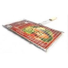 Решетка-гриль для рыбы двойная Метиз РГР2, 360*250 нерж.
