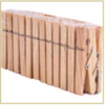 Прищепки для белья деревянные PEG-W-S/24 в наборе 24 шт. (дерево, металл)