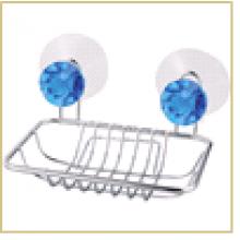 """Мыльница подвесная прямоугольная W2791 """"Бриллиант, синий"""" (крепление: 2 присоски)"""