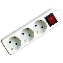 Удлинитель с/зм Гарнизон 3р*3м, 10А, выключатель