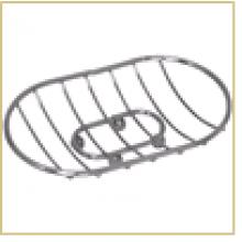Мыльница на ножках овальная CHR-481 (хром. металл)