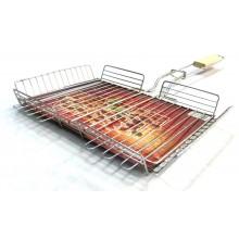 Решетка-гриль для курицы Метиз РГК нерж.340*260 дер. ручка