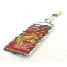 Решетка-гриль для рыбы Метиз РГР нерж.420*250 дер. ручка