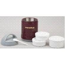 Термос РОСИНКА РОС-204 обеденный, бургунди,1,5 литра, 3 пищевых контейнера