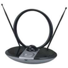 Антенна комнатная DVB-T и ДМВ+МВ активная Сигнал SAI 965 черная