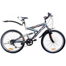 """Велосипед Torrent Adrenalin (подростковый, 7скоростей, колеса 24 д., рама сталь) (24"""" / 17"""" / Матовый серый)"""