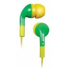 Наушники BBK EP-1410S желтый/зел