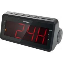 Радио-часы Rolsen CR-140 черный