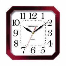 Часы настенные TROYKA 31331316  (классика белые, кольцо темная вишня)