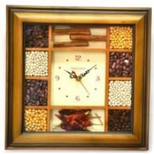Часы настенныеTROYKA 31361367  (специи с перчиком,квадрат, дерево) деревянные