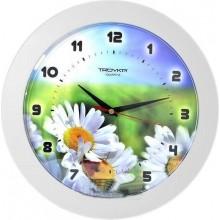 Часы настенные TROYKA 51510532 (Полевые ромашки,бел.кольцо,пластик)