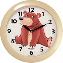 Часы настенные TROYKA 11135130 (Медвежонок, круг, пластик)